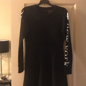 kate spade knit logo dress.